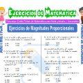 Ejercicios de Magnitudes Proporcionales para Primero de Secundaria