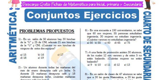 Aritmética Problemas para Cuarto de Secundaria | FICHAS GRATIS