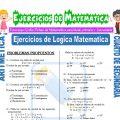 Ejercicios de Logica Matematica para Cuarto de Secundaria