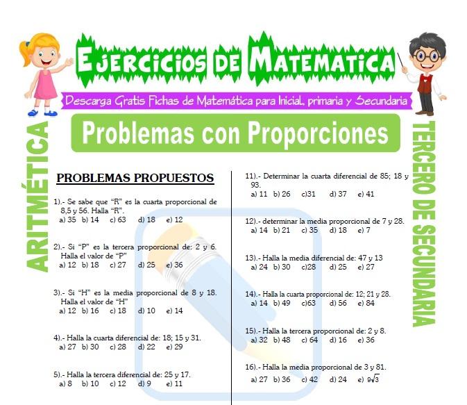 Problemas con Proporciones para Estudiantes de Tercero de Secundaria