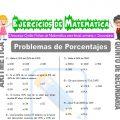 Problemas de Porcentajes para Quinto de Secundaria