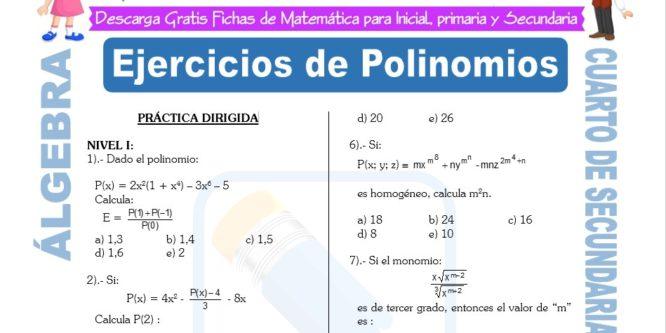 Ejercicios de Álgebra para Cuarto de Secundaria | FICHAS GRATIS