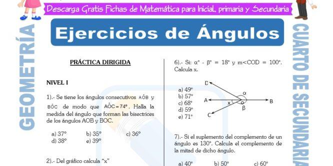 Ejercicios de Geometría para Cuarto de Secundaria | FICHAS ...