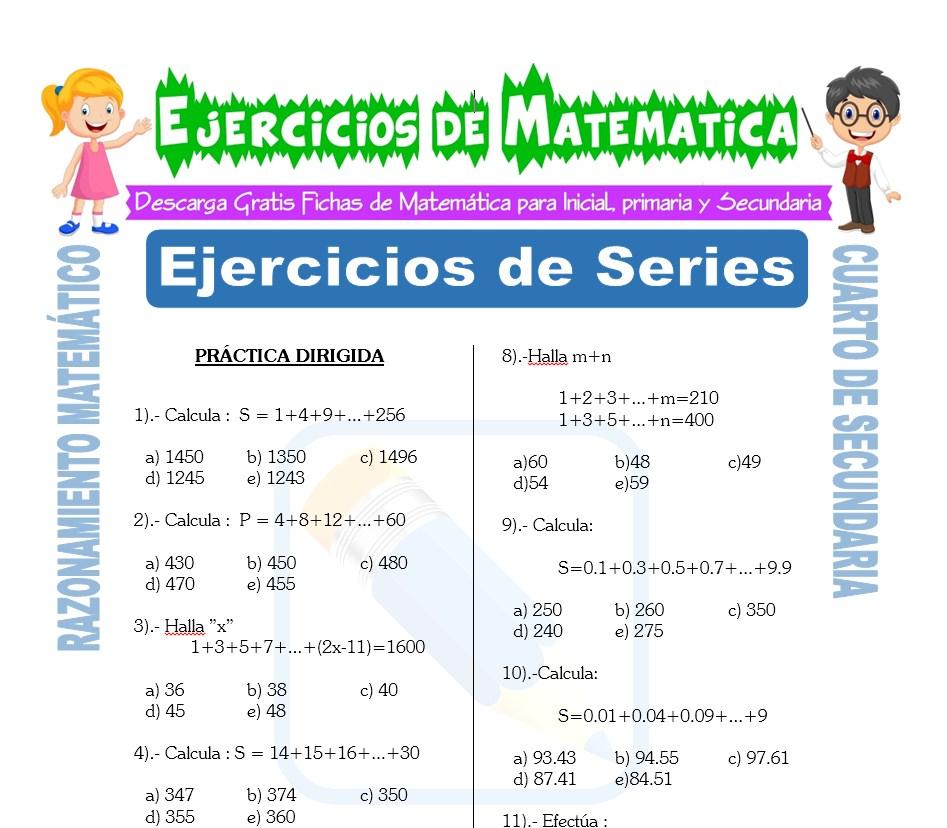 Ficha de Ejercicios de Series para Estudiantes de Cuarto de Secundaria