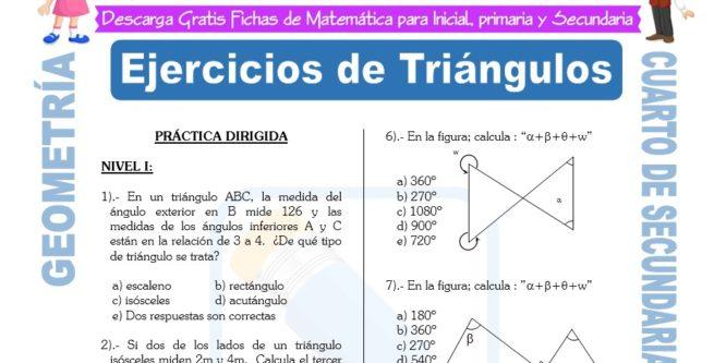 Ejercicios de Geometría para Cuarto de Secundaria | FICHAS GRATIS
