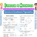 Ejercicios de Circunferencia Trigonométrica para Cuarto de Secundaria