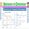 Ejercicios de Triángulos Rectángulos para Cuarto de Secundaria