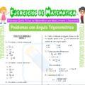 Problemas con Ángulo Trigonométrico para Tercero de Secundaria