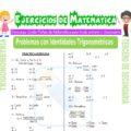 Problemas con Identidades Trigonométricas para Tercero de Secundaria