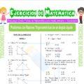 Problemas con Razones Trigonométricas de un Ángulo Agudo para Tercero de Secundaria
