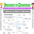 Problemas de Análisis Combinatorio para Quinto de Secundaria