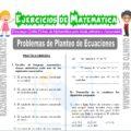 Problemas de Planteo de Ecuaciones para Quinto de Secundaria