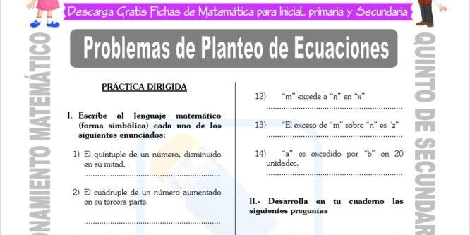 Actividades De Razonamiento Matematico 5 Secundaria Fichas Gratis