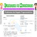 Problemas de Ángulo Trigonométrico para Quinto de Secundaria