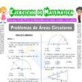 Problemas de Áreas Circulares para Quinto de Secundaria