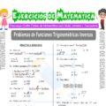 Problemas de Funciones trigonométricas Inversas para Quinto de Secundaria