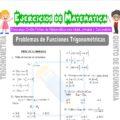 Problemas de Funciones Trigonométricas para Quinto de Secundaria
