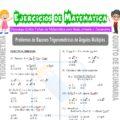 Problemas de Razones Trigonométricas de Ángulos Múltiples para Quinto de Secundaria