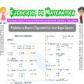 Problemas de Razones Trigonométricas de un Ángulo Compuesto para Quinto de Secundaria