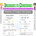 Problemas de Triángulos Oblicuángulos para Quinto de Secundaria