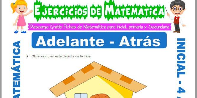 Ficha de Actividades de Adelante y Atrás para Niños de 4 Años