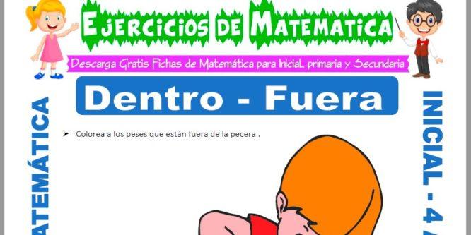 Ficha de Actividades de Dentro y Fuera para Niños de 4 Años