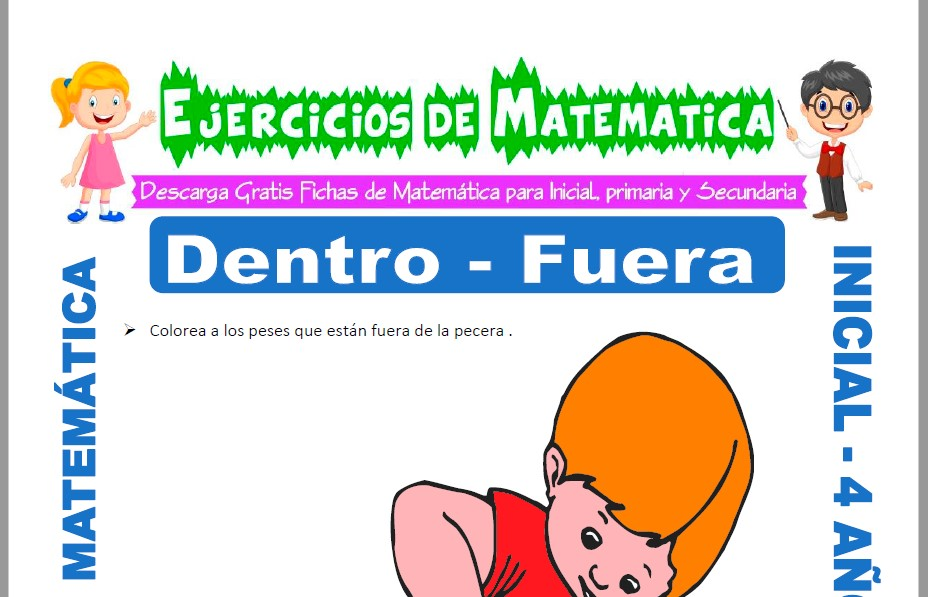 Modelo de la ficha de Actividades de Dentro y Fuera para Estudiantes de Inicial de 4 Años.