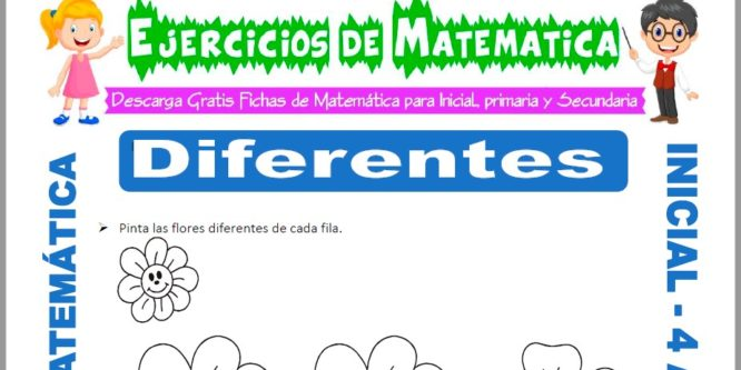 Ficha de Actividades de Diferencia para Niños de 4 Años