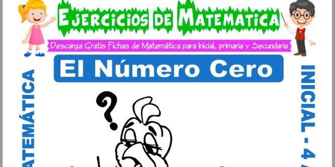 Ficha de Actividades de El Número Cero para Niños de 4 Años