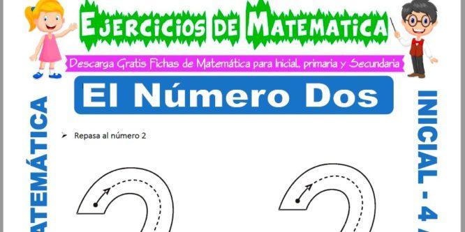 Ficha de Actividades de El Número Dos para Niños de 4 Años