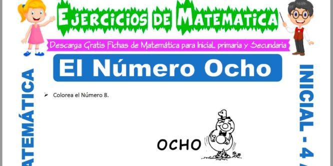 Ficha de Actividades de El Número Ocho para Niños de 4 Años