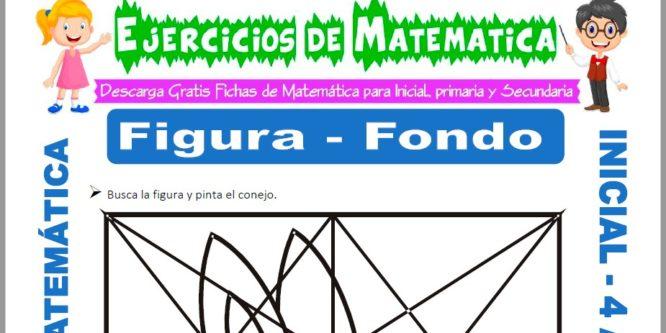 Ficha de Actividades de Figura de Fondo para Niños de 4 Años
