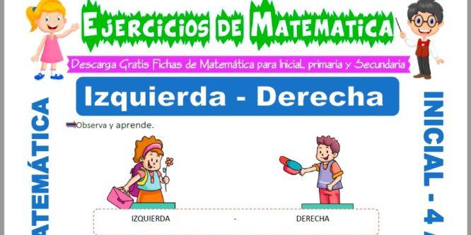 Ficha de Actividades de Izquierda y Derecha para Niños de 4 Años