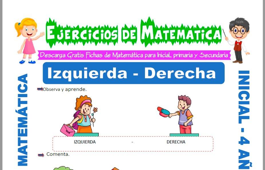 Modelo de la ficha de Actividades de Izquierda y Derecha para Estudiantes de Inicial de 4 Años.