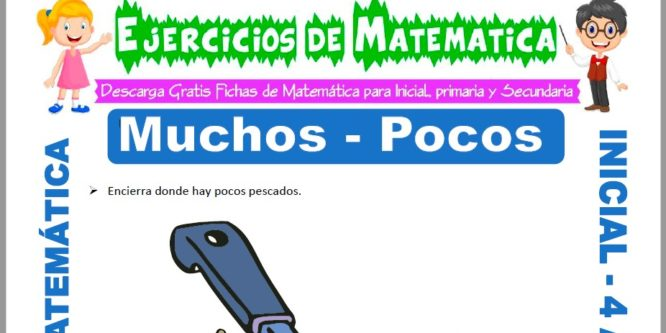 Ficha de Actividades de Muchos y Pocos para Niños de 4 Años