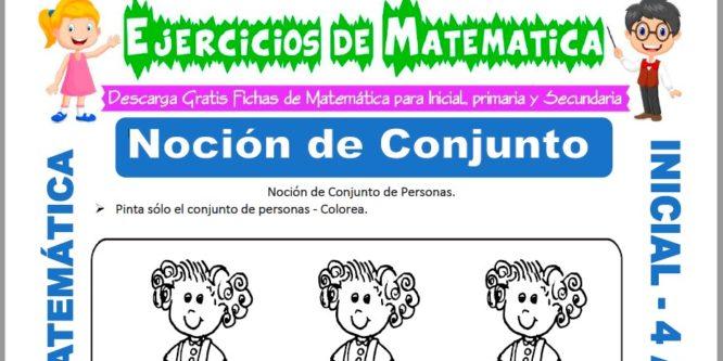 Ficha de Actividades de Noción de Conjuntos para Niños de 4 Años