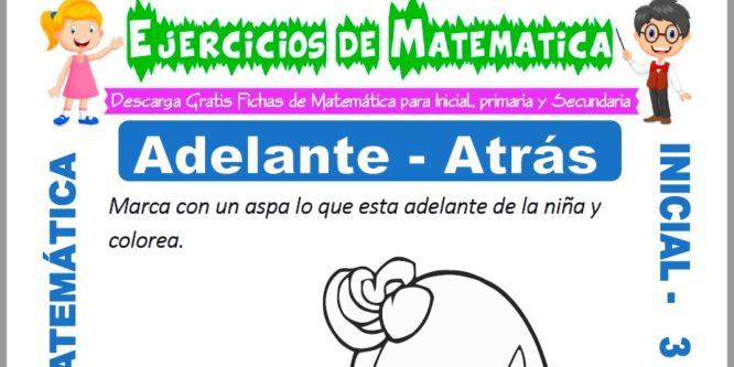 Ficha de Ejercicios de Adelante y Atrás para Inicial de 3 Años