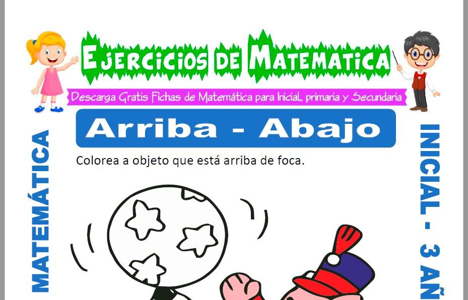 Ficha de Ejercicios de Arriba y Abajo para Inicial de 3 Años