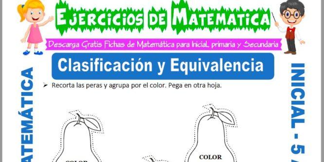 Ficha de Ejercicios de Clasificación y Equivalencia para Niños de 5 Años