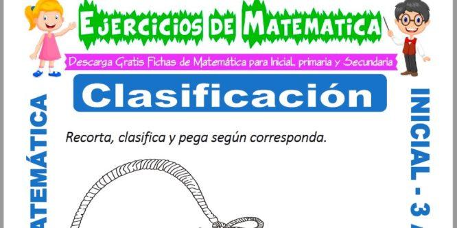 Ficha de Ejercicios de Clasificación para Inicial