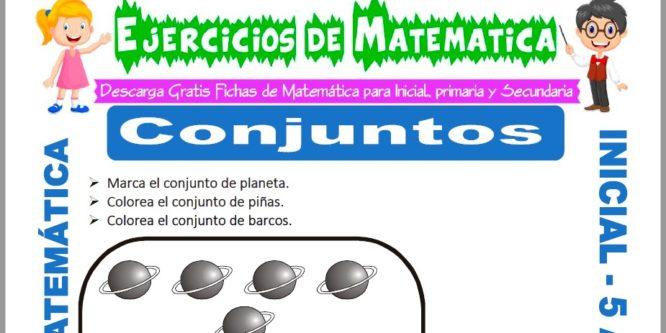 Ficha de Ejercicios de Conjuntos para Niños de 5 Años
