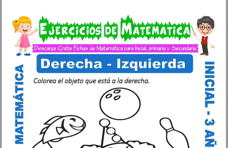 Ficha de Ejercicios de Derecha e Izquierda para Inicial de 3 Años