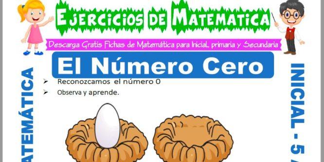 Ficha de Ejercicios de El Número Cero para Niños de 5 Años