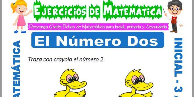 Ficha de Ejercicios de El Número Dos para Inicial