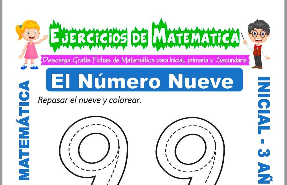 Modelo de la ficha de Ejercicios de El Número Nuevo para Estudiantes de Inicial de 3 Años.