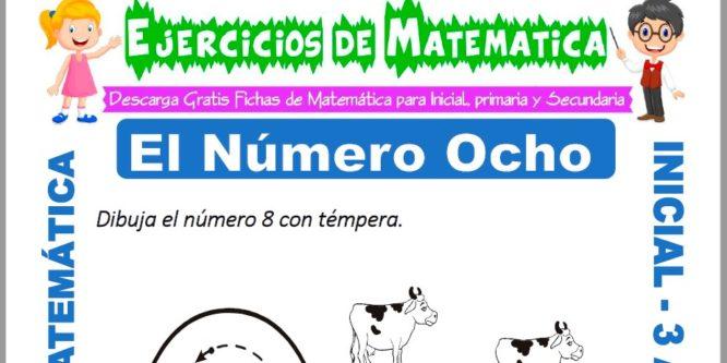 Ficha de Ejercicios de El Número Ocho para Inicial