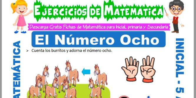 Ficha de Ejercicios de El Número Ocho para Niños de 5 Años