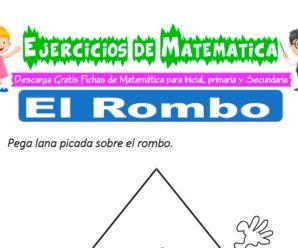 Ejercicios de El Rombo para Inicial de 3 Años