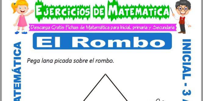 Ficha de Ejercicios de El Rombo para Inicial