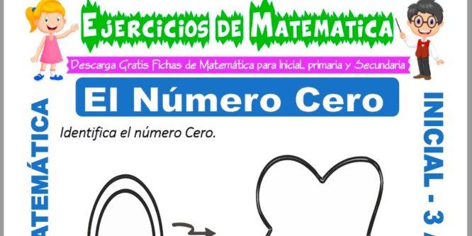 Ficha de Ejercicios de El número Cero para Inicial